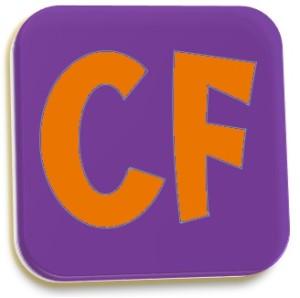 CF Logo purple and orange